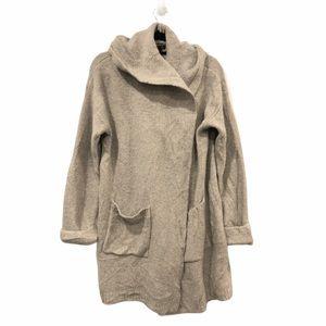 Tahari Open Wool Cardigan Grey Large